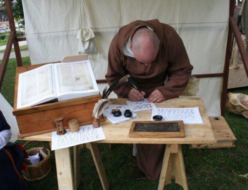 Stoisko średniowiecznego skryby